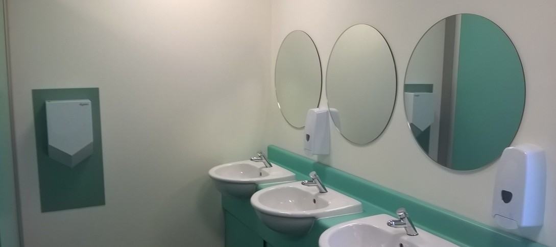 Bathroom refurbishment, Esher College